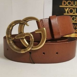 Gucci BROWN Leather Snake GG